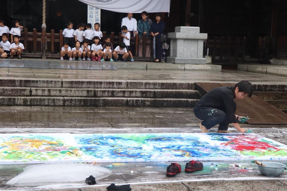 国際平和デー 栃木県護国神社奉納揮毫
